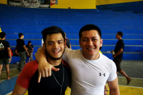 Harvey Navaro With Adrian Subido Bronze Medalist